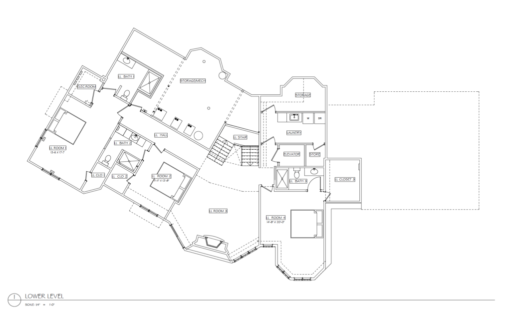 Wild Pine Lower Level Floor Plan