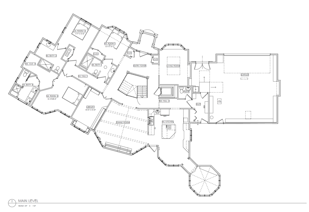 Wild Pine House Main Level Floorplan