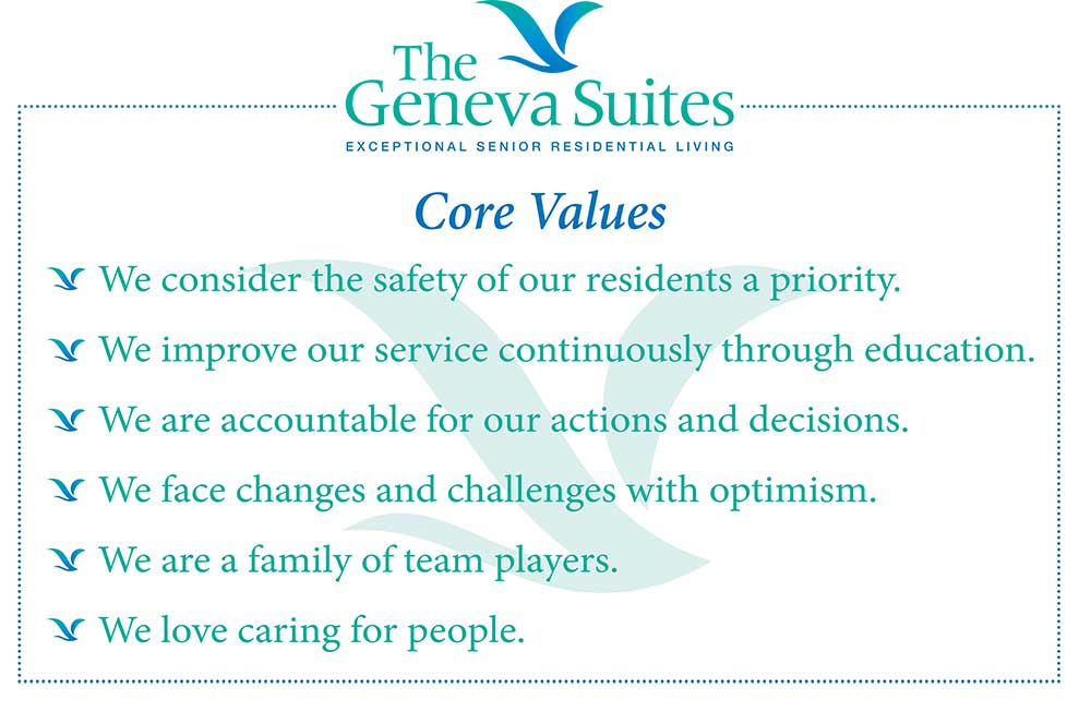 The Geneva Suites core values image